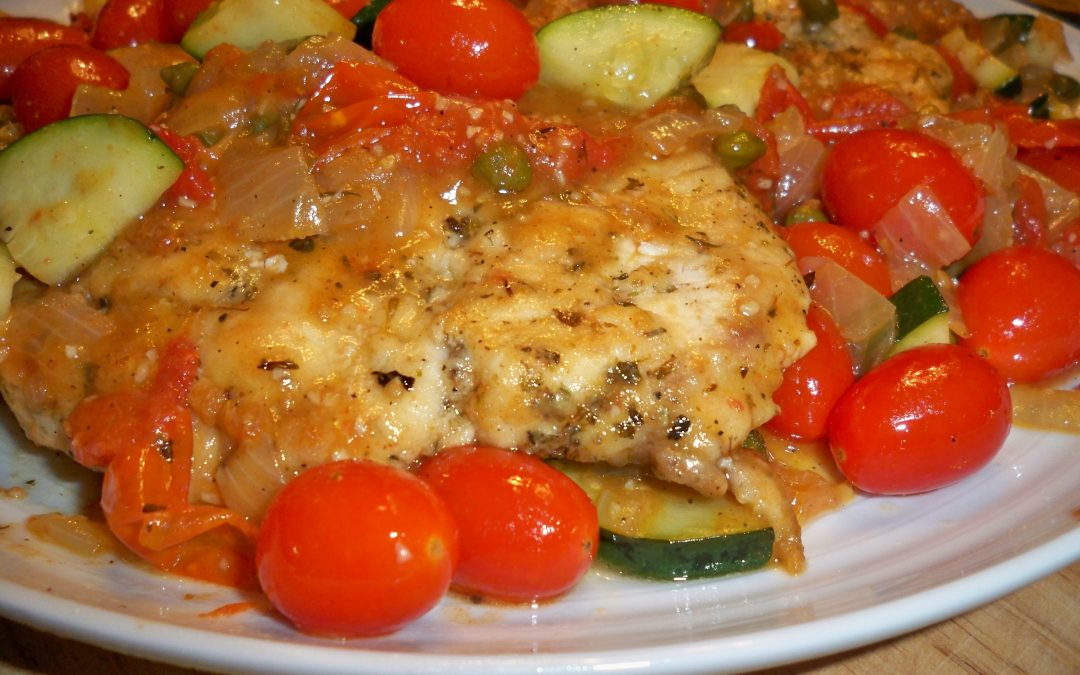 Chicken Paillard with Tomatoes and Capers