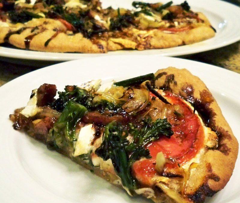 Brie and Broccolini Pizza