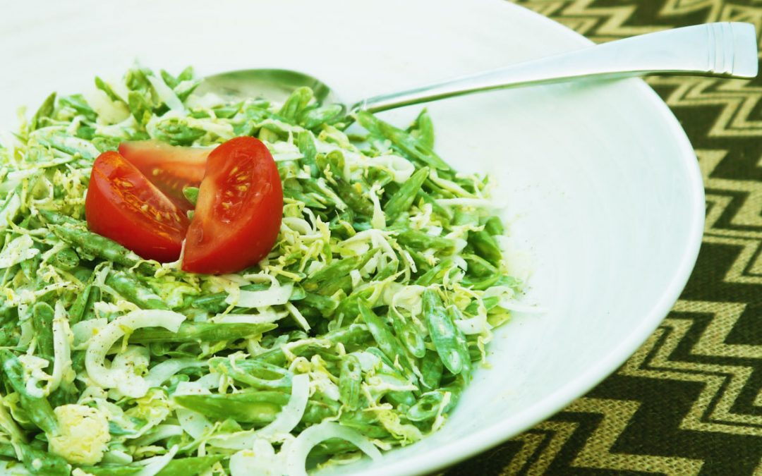 Frenched Green Bean & Brussels Sprout Coleslaw