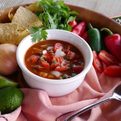 Slow Cooker Simple Posole with Pork and Hominy