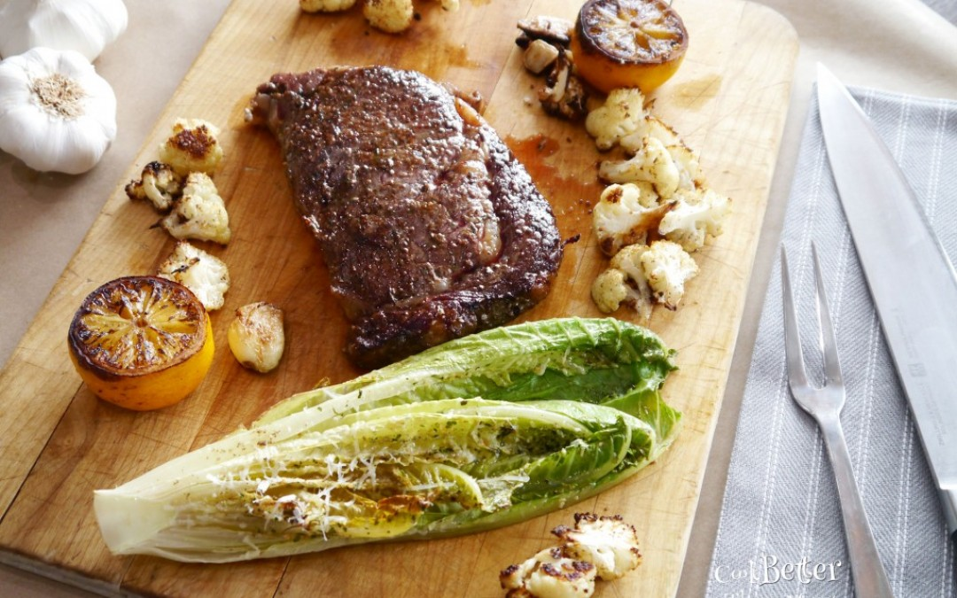 Giveaway: Sous Vide Ribeye with Roasted Romaine