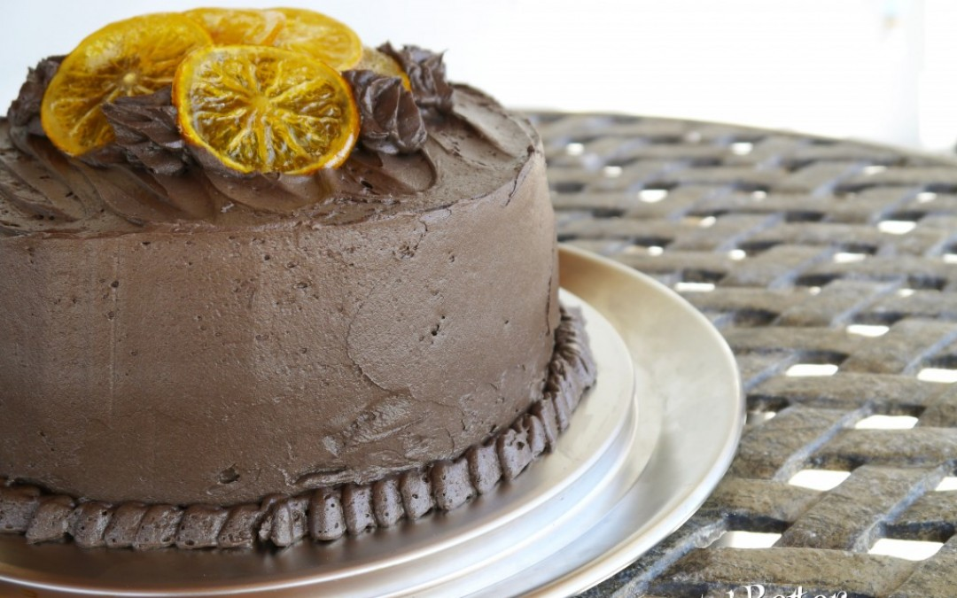 Dark Chocolate and Orange Layer Cake