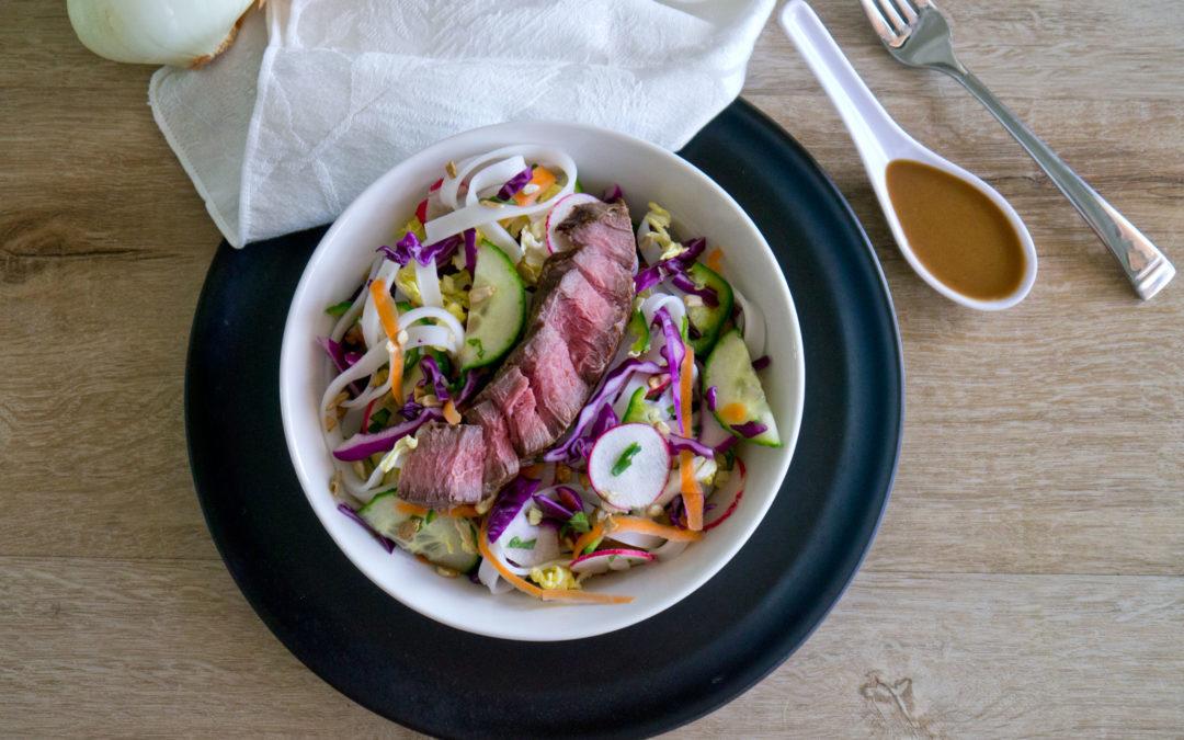 Leftover Roast Beef Thai Noodle Salad