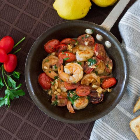 Tomato and Shrimp Tapas