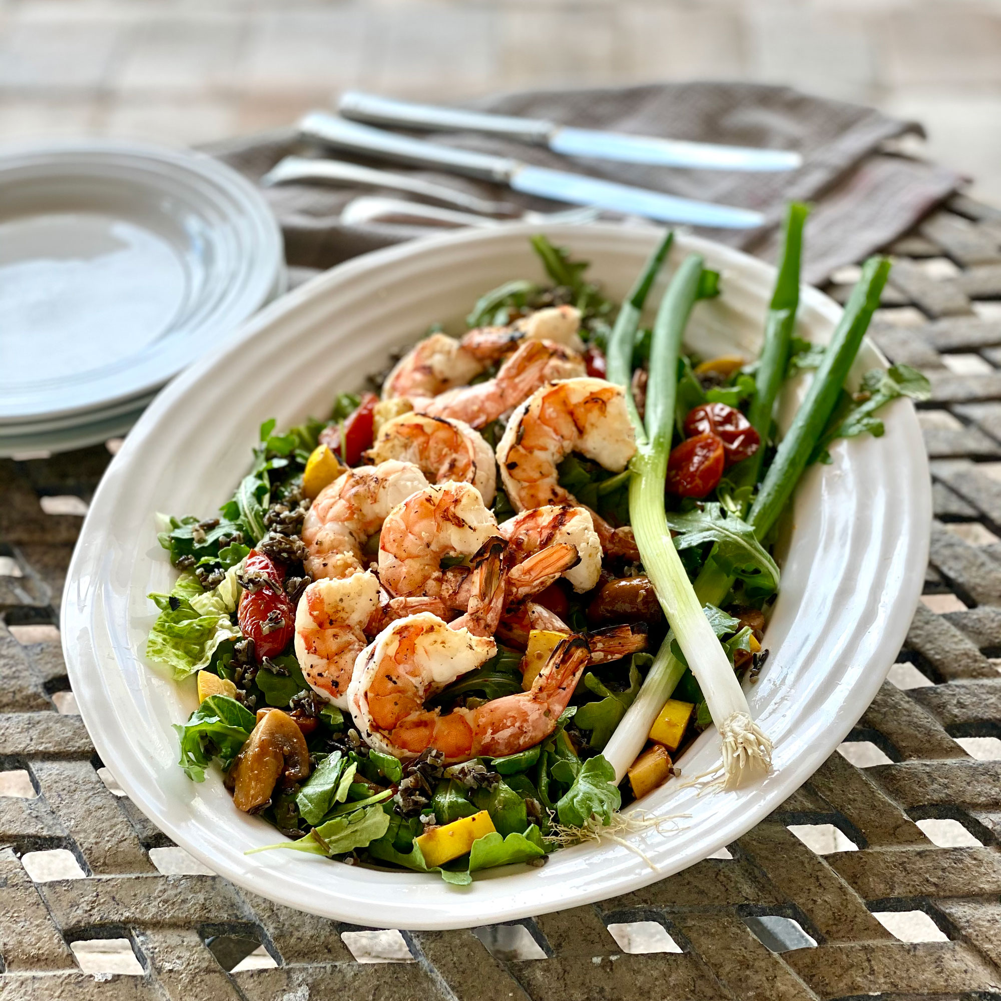 black wild rice salad