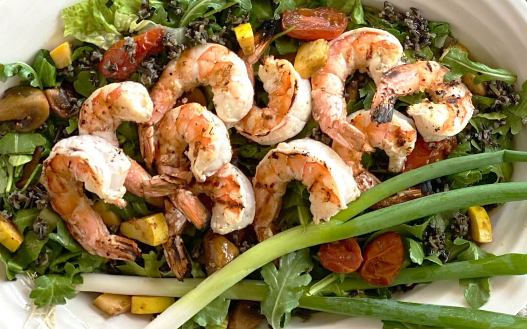 Black Wild Rice and Shrimp Salad
