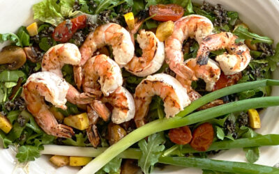 Black Wild Rice and Shrimp Salad